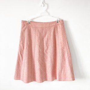 Merona Light Pink Wool Blend A-Line Skirt Size 6